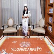 Yilong 5.5and039x8and039 Square Hand Knotted Wool Rug Chinese Art Deco Woolen Carpet