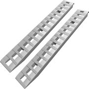 84 X 15 X2.5and039and039 Aluminum 6000 Lbs Truck Car Auto Trailer Ramps Hook End