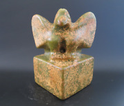 Old China,collectibles,hongshan Culture,jade,hand-carved,eagle,statue,seal 2146g