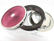14 X 3 Flow Through Air Cleaner Kit W/ Washable Filter Recessed Base 5 Stud