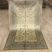 Yilong 4and039x6and039 Vintage Silk Hand Knotted Carpets Interior Handmade Area Rugs 036b