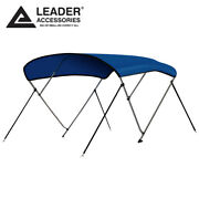 New 600d Pacific Blue 3 Bow Bimini Top Boat Covers 6and039l X 46h X 73-78w