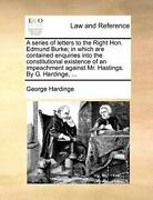 A Series Of Letters To The Right Hon. Edmund Bu Hardinge George