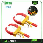 2pcs Of Wheel Lock Clamp Boot Tire Claw Auto Car Truck Rv Boat Anti-theft Towing