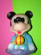 Chalkware Vintage Coin Bank Carnival Game Prize Figurine Mickey Mouse Rare