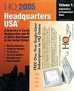 Headquarters Usa 2005 A Directory Of Contact Information For Headquarters And