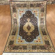 Yilong 4and039x6and039 Small Hand Made Rugs For Sale Classic Hand Knotted Silk Carpet 121a