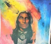 William Verdult Hand Signed Print Of American Plains Indian 1985