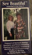 Sew Beautiful Vhs Potpouri Of Heirloom Sewing-rare Vintage Collectible-ship N24h