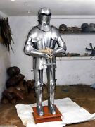 Medieval Armor Suit Battle Ready Armor Costume Steel Armor Suit W Sword And Stand