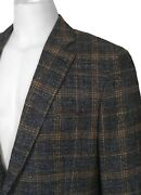 New Etro Sportcoat Jacket 42 E 54 Heavier Weight Blue Check Slim Fit Italy