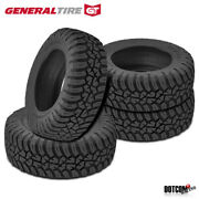4 X New General Grabber X3 35/12.5/r20 121q Off-road Max Traction Tire