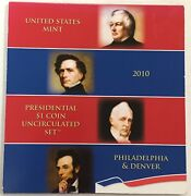 2010 -us-mint-presidential-p-d-uncirculated-8-coin Set