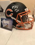 Brian Urlacher Matte Black Speed Rep With Hof Inscription Free Shipping In Usa