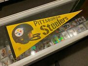 1970and039s Pittsburgh Steelers Pennant Signed Joe Greene Furness Cole Rocky +2