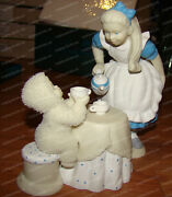 Dept 56 Snowbabies Guest Collection Tea For Two 56.69904 Alice In Wonderland