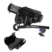3500 Lb Kfi Stealth Winch Combo Kit M2 For 2007-2015 Yamaha Grizzly 700 4x4