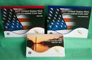 2017 Proof And Uncirculated Two Annual Us Mint Coin Sets Pds 30 Coins Complete