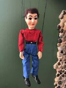 Vintage 1950and039s Hazelleand039s Popular Marionette 811- Dick Doll Puppet Toy