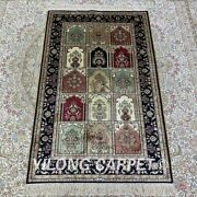 Yilong 2.5and039x4and039 Four Seasons Hand Knotted Carpet Soft Silk Handmade Area Rug 164b
