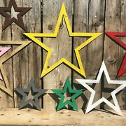 Metal Rustic Stars Star Sign Garden Decoration Ornament Feature Vintage Classic