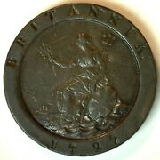 1797 Great Britain 2 Pence Coin Copper George Iii Xf Extra Fine Uk Coin Twopence