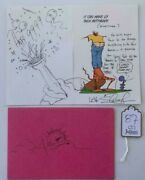 Slash Guns And Roses Handwritten Card To Wife W/ Sketch Signed Autographed Juliens