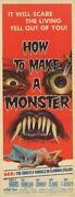 How To Make A Monster Original 1958 Aip Horror 14x36 Insert Movie Poster