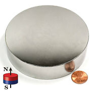 Cms Magnetics N42 Super Strong Neodymium Magnet Disc 4 X 1 Rare Earth Magnets