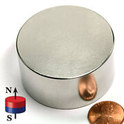 Cms Magnetics N52 Super Strong Neodymium Magnet Disc 2 X 1 Rare Earth Magnets