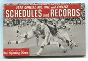 Football Schedules And Records 1974- Nfl- Wfl- Ncaa