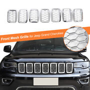Chrome Front Grille Insert Mesh Ring Decor 7pcs/set For Jeep Grand Cherokee 17+