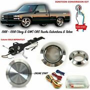88-98 Obs Billet Aluminum Silver Push Button Ignition Start Conversion Kit Chevy