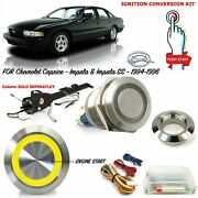 94-96 Impala Ss Caprice Billet Silver Push Button Ignition Start Upgrade Yellow