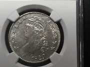 1823 Bust Half O-108a Rarity 3 Ngc Au53 Wow This Coin Is White And Bright