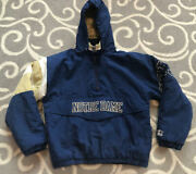 Vintage University Of Notre Dame Starter 1990s Puffy College Hooded Jacket Small