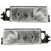 Gm2503123 Gm2502124 Headlight Lamp Left-and-right For Chevy Olds Lh And Rh Impala