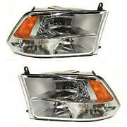 Headlight Lamp Left-and-right For Ram Truck Lh And Rh 1500 Ch2518135 Ch2519135