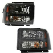 Headlight Lamp Left-and-right For F250 Truck F350 F450 Fo2503224 Fo2502224