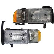 Headlight Lamp Left-and-right For Ram Truck Lh And Rh 1500 Ch2503101 Ch2502101