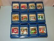 Vtg 80and039s Lot 12 Hummelwerk Satin Christmas Ornaments 8 Different And Babyand039s 1st