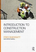 Introduction To Construction Management Sherratt 9780415707428 Free Shipping-