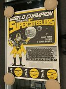 1979 Pittsburgh Steelers Super Bowl Xiii Matecko 17.5'x23' Rare Poster Champs 2