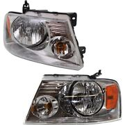 Headlight Lamp Left-and-right For F150 Truck Lh And Rh F-150 Fo2503201 Fo2502201