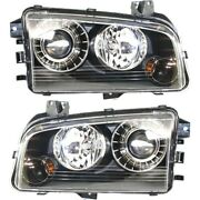 Hid Headlight Lamp Left-and-right Hid/xenon Lh And Rh For Dodge Charger 2008-2010
