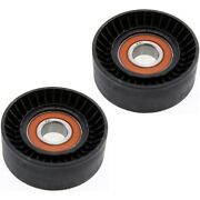 Set Of 2 Accessory Belt Tension Pulleys For Chevy Vw 330 Jeep Wrangler Golf Pair