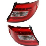 Hy2805128, Hy2804128 Set Of 2 Tail Lights Lamps Left-and-right Outside Pair
