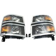 Headlight Lamp Left-and-right For Chevy Gm2503410 Gm2502410 23380551 23380550