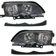 Set Of 4 Headlights Lamps Left-and-right For 325 330 Sedan Lh And Rh E46 3 Series