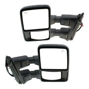 Mirror For 2008-2009 Ford F-350 Super Duty Left And Right Set Of 2 Black